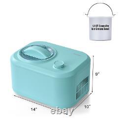 1.1 QT Ice Cream Maker Automatic Frozen Dessert Machine With Spoon Home Multicolor