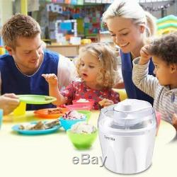 1.5 Quart Automatic Ice Cream Maker Freezer Bowl Dessert Machine White