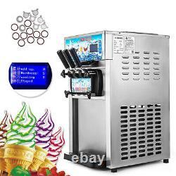 110V 3 Flavors Soft Ice Cream Machine Ice Cream Maker Ice Cream Cone Commercial