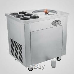 110V Thai Fried Ice Cream Machine Roll Ice Cream Maker with Temperature Control