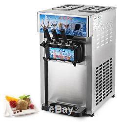 1200W Commercial Soft Ice Cream Machine 3 Flavors Precise Control Countertop