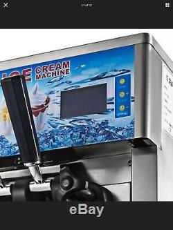 1200W Top Commercial Soft Ice Cream Machine CE Frozen Yogurt Cone Maker 3 Flavor