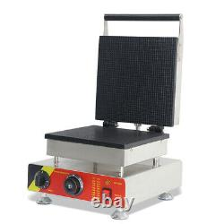 1500W Commercial Non-Stick Electric Ice Cream Waffle Cone Baker Maker Machine US