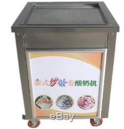 19.7 Square Fry Pan Electric Thai Fried Yogurt Ice Cream Roll Machine Maker