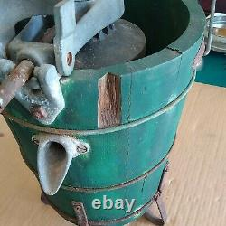 1930's KitchenAid Model G Wood Body Ice Cream Maker Complete with Spring Gauge