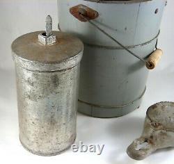 1930s KitchenAid Mixer Attachment Ice Cream Maker with Wooden Bucket Excellent