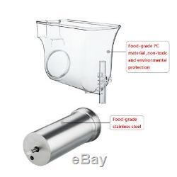 2 Tanks 30L Commercial Frozen Drink Slush Slushy Make Machine Drink Maker Safety