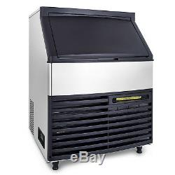 200KG/440LBS Commercial Ice Cube Maker Machine Ice-Cream Stores Restaurants