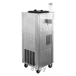 2200W Commercial Soft Ice Cream Machine 3 Flavors 7L2 304 Stainless Portable
