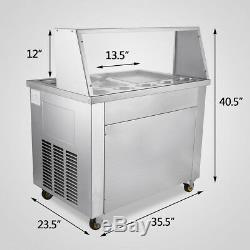 22L/H Thai Fried Ice Cream Machine Roll Ice Cream Maker with Temperature Control