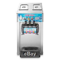 3 Flavors Commercial Soft Ice Cream Machine Frozen Ice Cream Cones Machine