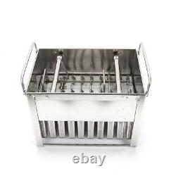30Pc Stainless Steel Pop Popsicle Mold Frozen Lolly Mould Ice Cream Maker Silver