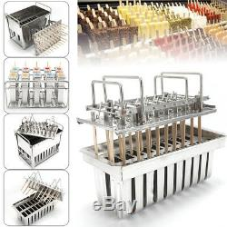 30Stainless Steel Ice Pop Molds Ice Cream Ice Lolly Popsicle Stick Holder DIY