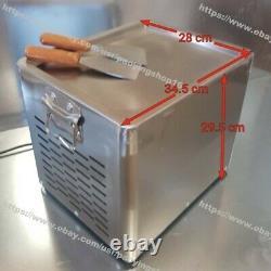 30x24cm Party Fry Pan Electric Thai Fried Ice Cream Yogurt Roll Maker Machine