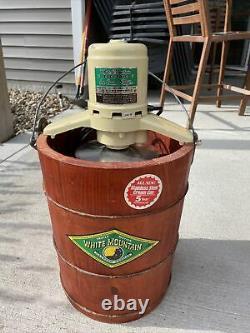 4/6 E-69-20 Quart Qt White Mountain Electric Ice Cream Maker Freezer Model 69204
