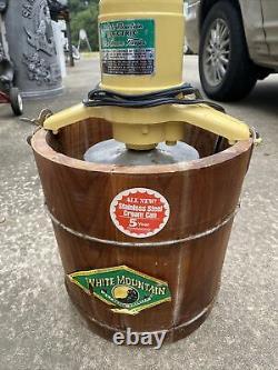 6 Quart Qt White Mountain Electric Ice Cream Maker Freezer Model 69206 / 69204