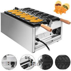 6Pcs Fish Waffle Taiyaki Maker 3000W Ice Cream Iron Baker Commercial Nonstick