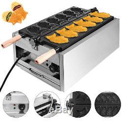 6Pcs Fish Waffle Taiyaki Maker Electric Ice Cream Iron Baker Commercial 3000W
