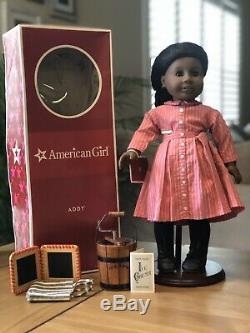 American Girl Addy MIB with ice cream maker and school supplies! FREE SHIPPING