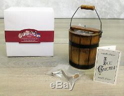 American Girl Pleasant Company ICE CREAM FREEZER Maker Crank Wood Addy Felicity