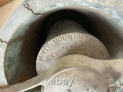 Antique 1920 Ice Cream Maker hand crank churn pine wood bucket USA