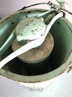 Antique Snow Ball Triple Maker Ice Cream Maker- Green