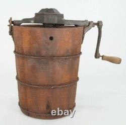 Antique Wonder Ice Cream Freezer Maker 6 Mini 1 1/2 Cup Kansas U Home Ec 1920s