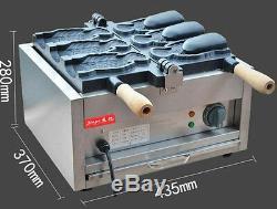 CE Fish Ice Cream Taiyaki Maker Machine electric open mouth taiyaki Machine