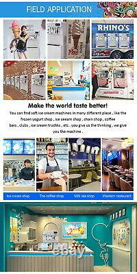 Commercial 3+2 mixed flavors soft serve ice cream machine, gelato ice cream maker
