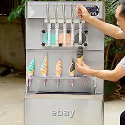 Commercial 5 flavors soft serve ice cream machine, gelato ice cream maker