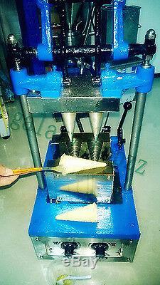 Commercial Automatic Ice Cream Cone Maker Machine Electric Double Cones maker