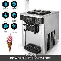 Commercial Countertop Soft Ice Cream Machine Sta. Steel Ice Cream Cones R410a