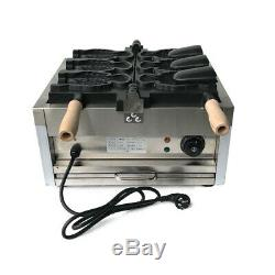 Commercial Electric 3X Fish Waffle Ice Cream Taiyaki Maker Baker Nonstick -110V