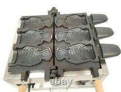 Commercial Electric Use 3pcs Ice Cream Deep Mouth Taiyaki Fish Waffle Maker Bake
