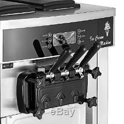 Commercial Mix Flavor Ice Cream Machine Yogurt Soft / Hard R410a 3 Flavor 110V