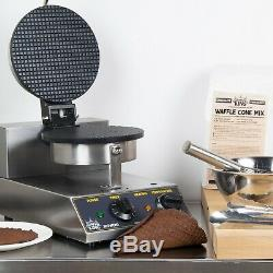 Commercial Non-Stick Electric 8 Ice Cream Waffle Cone Maker 120 Volt