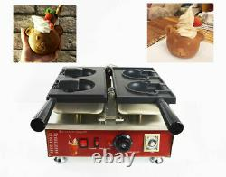 Commercial Nonstick Electric Ice Cream Taiyaki Bear Waffle Maker 110V Cook