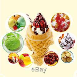 Commercial Nonstick Electric Ice Cream Taiyaki Maker 3 Fish Waffle Baker Machine