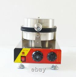 Commercial Nonstick Electric Single Ice Cream Cone Maker Iron Machine 110V