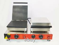 Commercial Nonstick Electric Square Ice Cream Cone Maker Machine 110V