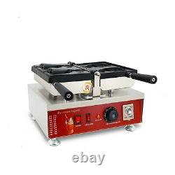 Commercial Nonstick Ice Cream Taiyaki Maker Open Mouth Fish Waffle Machine Baker