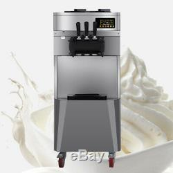 Commercial Soft Ice Cream 3 Flavor Steel Frozen Yogurt Cone Maker Machine Easy