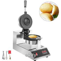 Commercial Waffle Maker Ice Cream Hamburger Ball-shaped Waffle Baker Nonstick