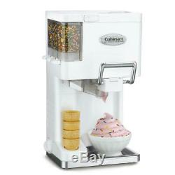 Cuisinart 1.5 Qt Ice Cream Maker Soft Serve Fully Auto w Condiment Dispenser New