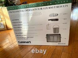 Cuisinart Commercial Quality Ice Cream Maker ICE-50BC New