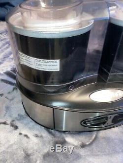 Cuisinart Dual Flavor Ice Cream Maker Machine ICE-40BK Stainless Steel Black
