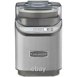 Cuisinart Electronic Ice Cream Maker Brushed Chrome with Extended Warranty