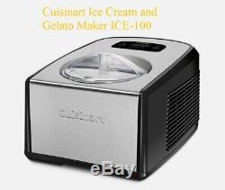 Cuisinart ICE-100 Ice Cream and Gelato Maker. New