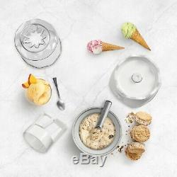 Cuisinart ICE-20 Ice Cream, Frozen Yogurt & Sorbet Maker, 1.5 Quart, White