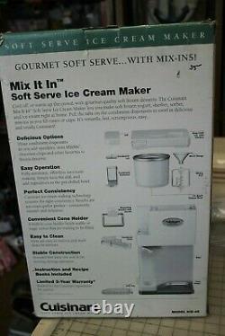 Cuisinart ICE-45 Mix It In Soft Serve 1-1/2-Quart Ice Cream Maker, White Free Sh
